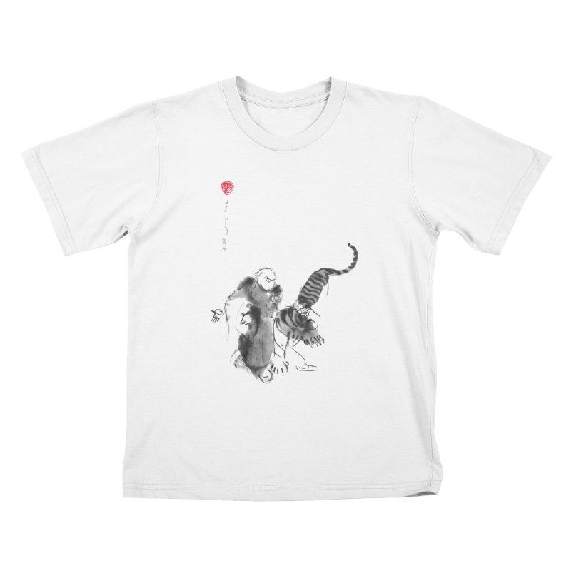 Step Back To Ride Tiger Kids T-Shirt by arttaichi's Artist Shop