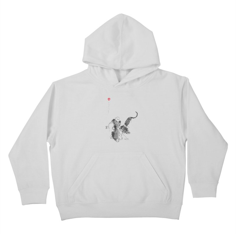 Step Back To Ride Tiger Kids Pullover Hoody by arttaichi's Artist Shop