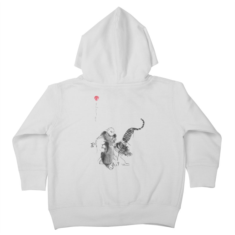 Step Back To Ride Tiger Kids Toddler Zip-Up Hoody by arttaichi's Artist Shop