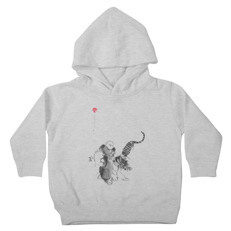 Step Back To Ride Tiger Kids Toddler Pullover Hoody by arttaichi's Artist Shop