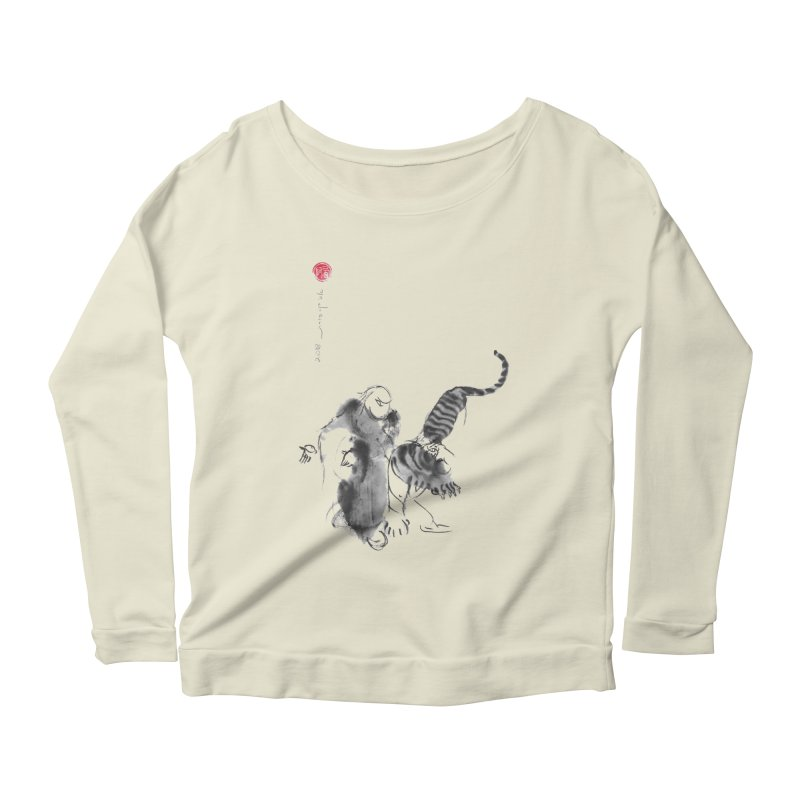 Step Back To Ride Tiger Women's Scoop Neck Longsleeve T-Shirt by arttaichi's Artist Shop