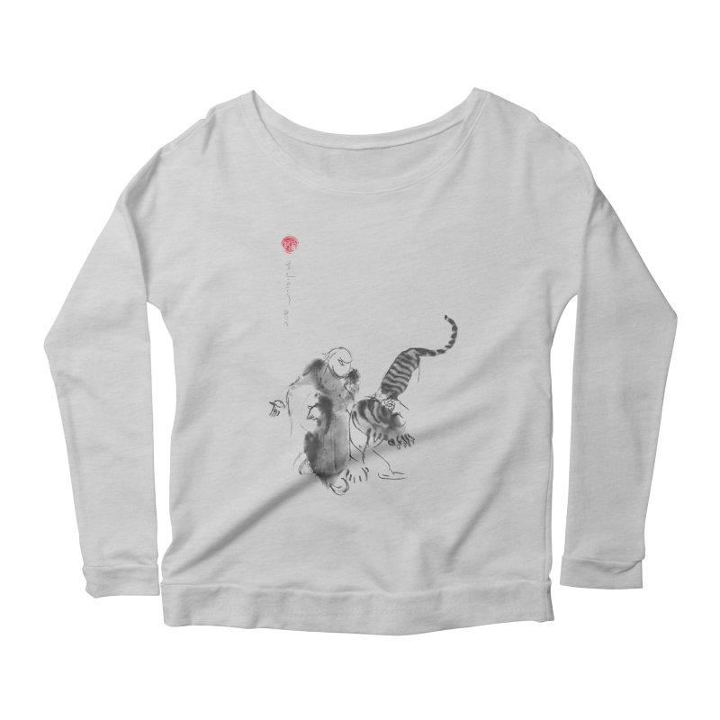 Step Back To Ride Tiger Women's Scoop Neck Longsleeve T-Shirt by arttaichi's Artist Shop