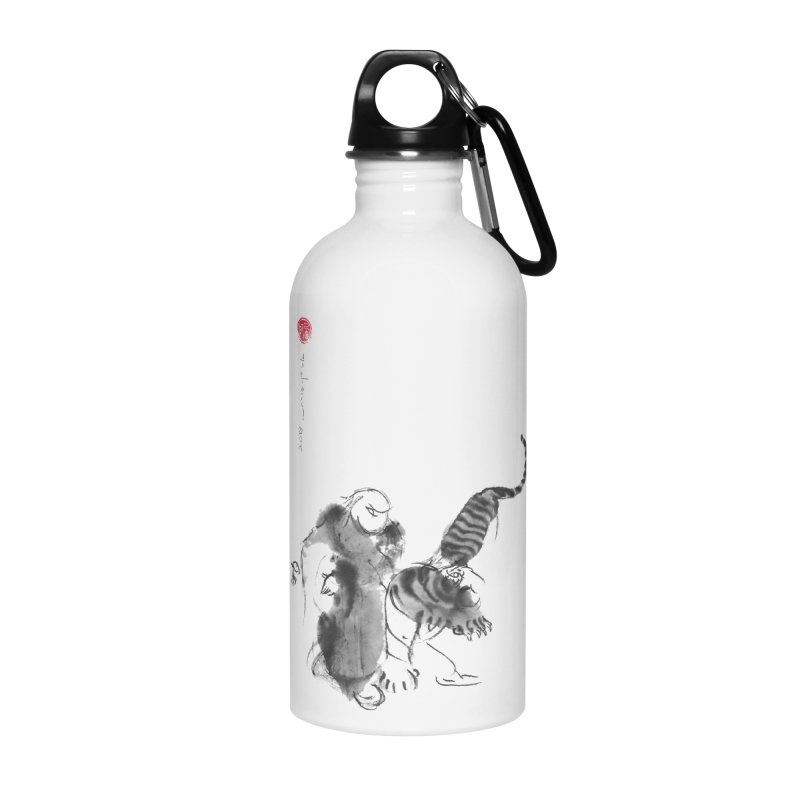 Step Back To Ride Tiger Accessories Water Bottle by arttaichi's Artist Shop