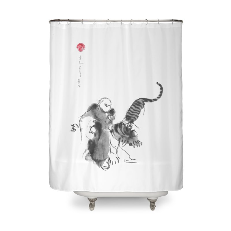 Step Back To Ride Tiger Home Shower Curtain by arttaichi's Artist Shop