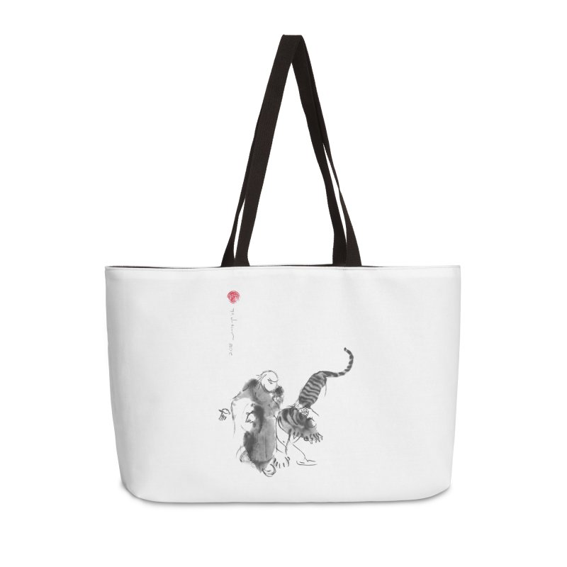 Step Back To Ride Tiger Accessories Bag by arttaichi's Artist Shop