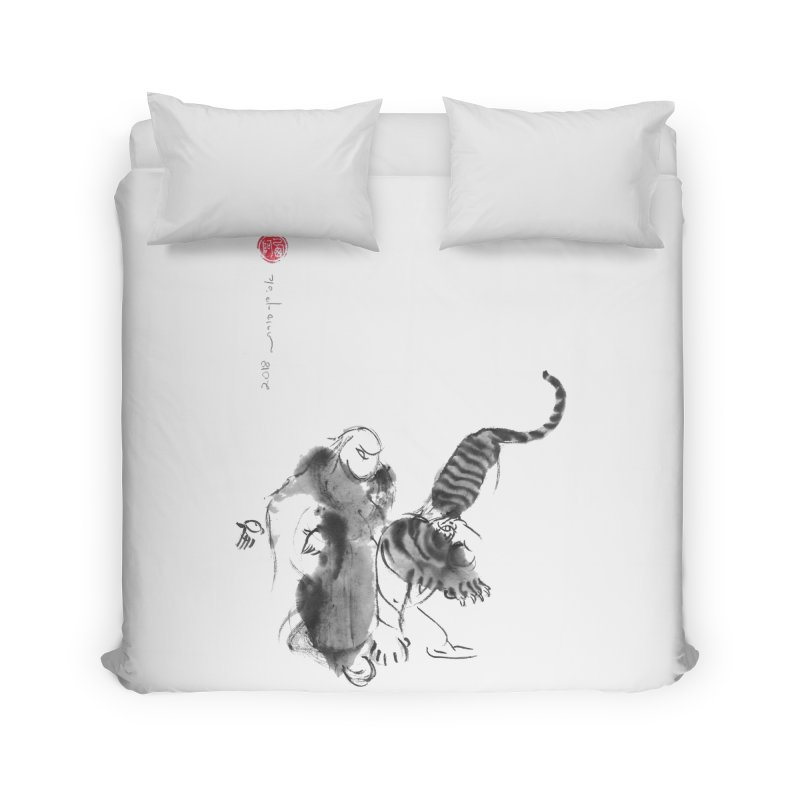 Step Back To Ride Tiger Home Duvet by arttaichi's Artist Shop