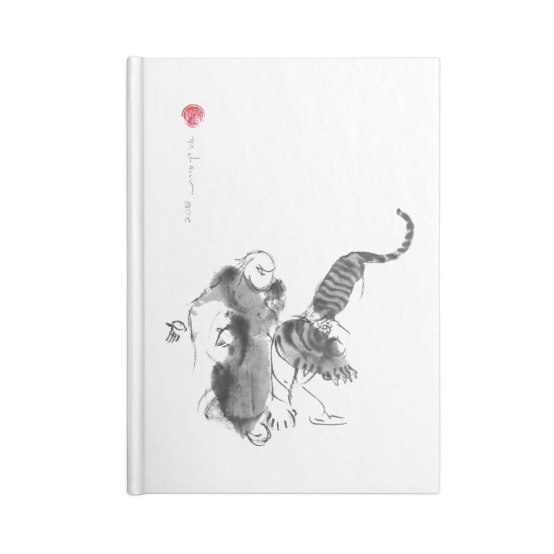 Step Back To Ride Tiger Accessories Lined Journal Notebook by arttaichi's Artist Shop