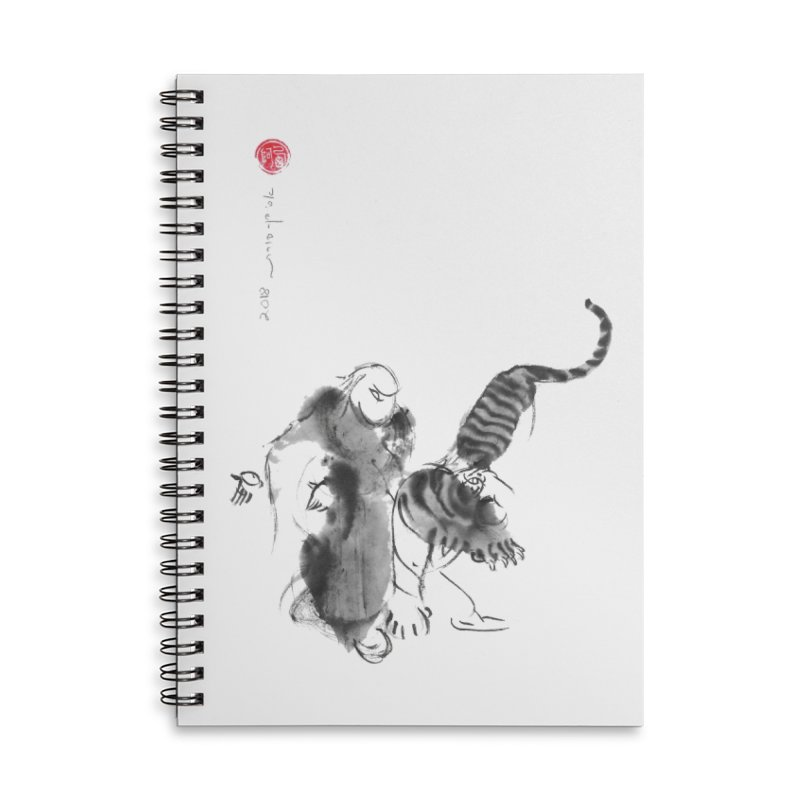 Step Back To Ride Tiger Accessories Lined Spiral Notebook by arttaichi's Artist Shop