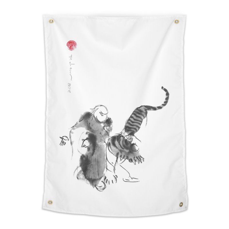 Step Back To Ride Tiger Home Tapestry by arttaichi's Artist Shop