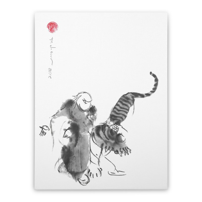 Step Back To Ride Tiger Home Stretched Canvas by arttaichi's Artist Shop