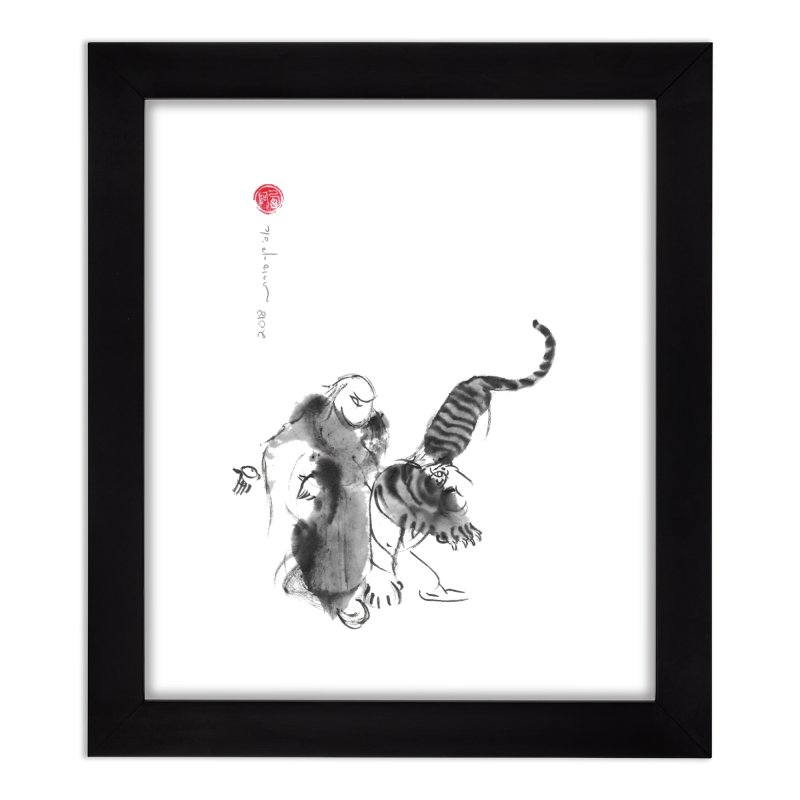Step Back To Ride Tiger Home Framed Fine Art Print by arttaichi's Artist Shop