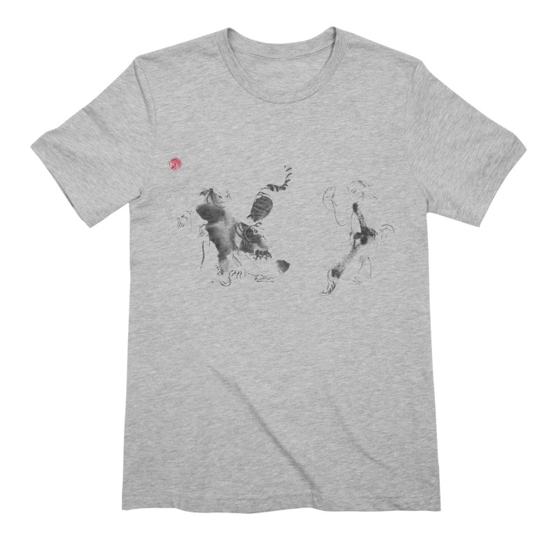 Step Back To Ride Tiger Men's Extra Soft T-Shirt by arttaichi's Artist Shop
