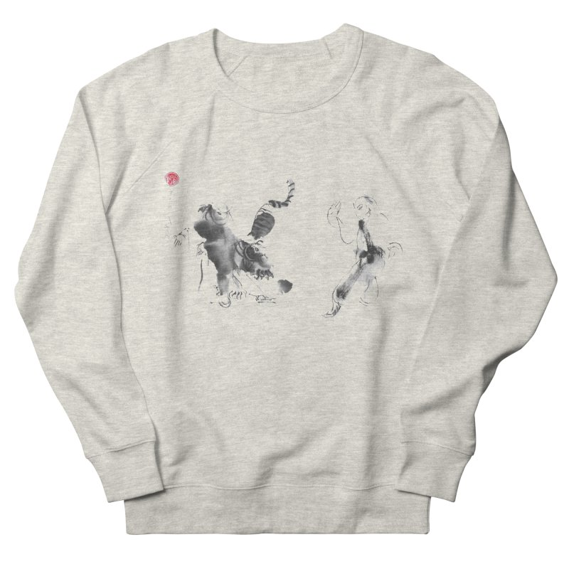 Step Back To Ride Tiger Men's French Terry Sweatshirt by arttaichi's Artist Shop