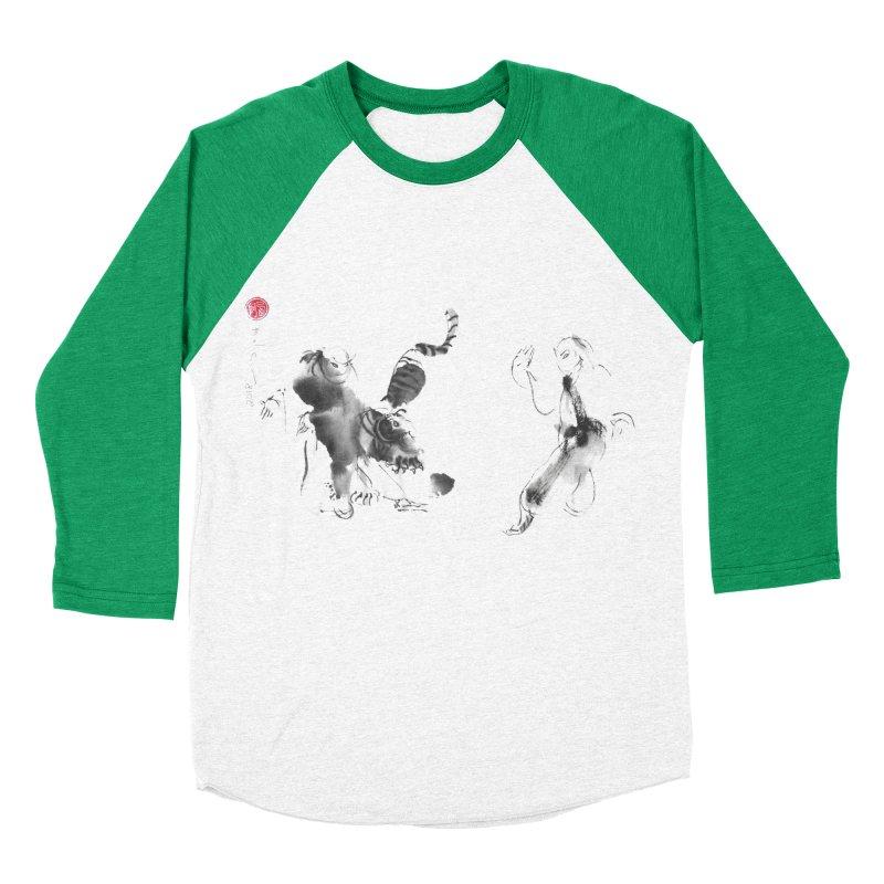 Step Back To Ride Tiger Men's Baseball Triblend Longsleeve T-Shirt by arttaichi's Artist Shop