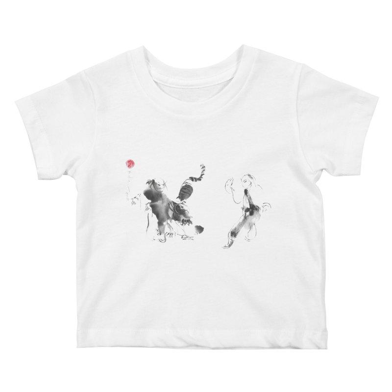 Step Back To Ride Tiger Kids Baby T-Shirt by arttaichi's Artist Shop