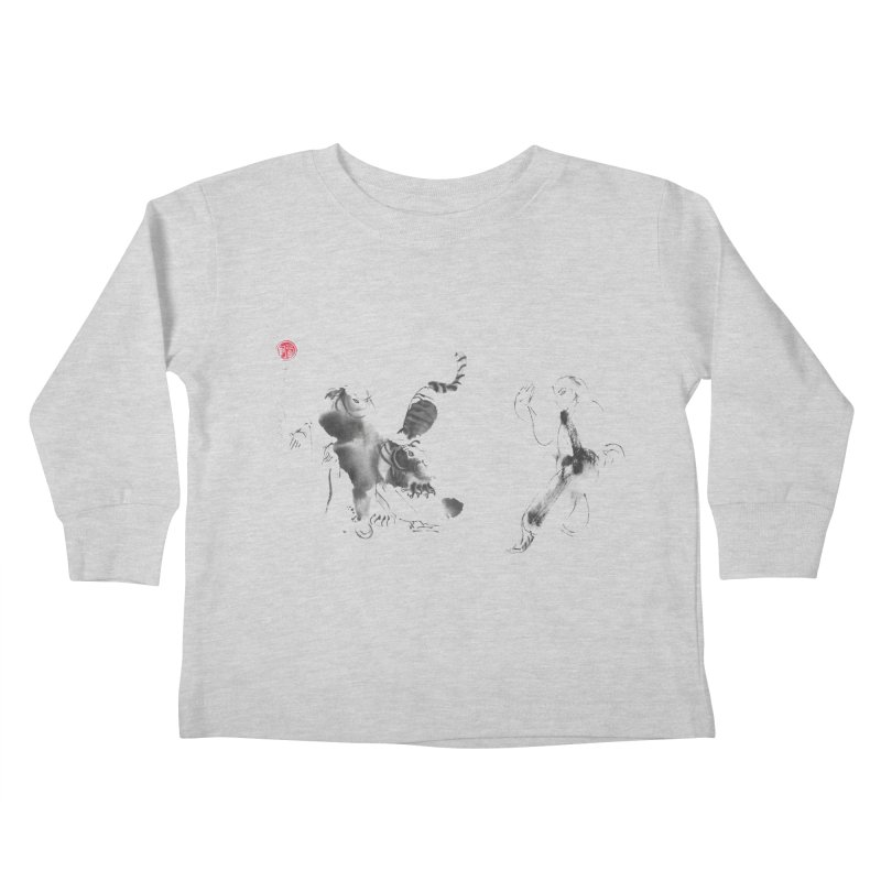 Step Back To Ride Tiger Kids Toddler Longsleeve T-Shirt by arttaichi's Artist Shop