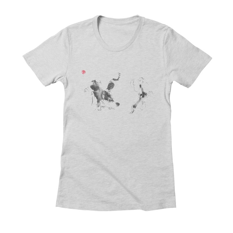 Step Back To Ride Tiger Women's Fitted T-Shirt by arttaichi's Artist Shop