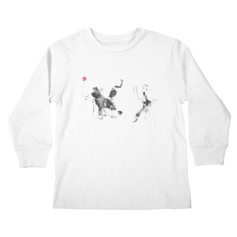 Step Back To Ride Tiger Kids Longsleeve T-Shirt by arttaichi's Artist Shop