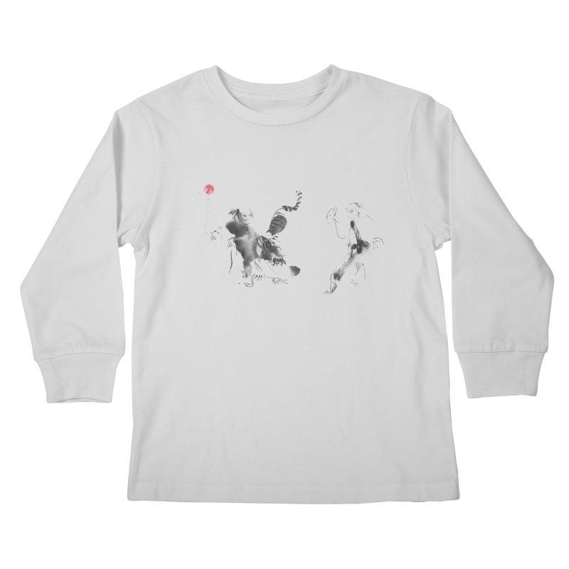 Step Back To Ride Tiger Kids Longsleeve T-Shirt by arttaichi's Artist Shop