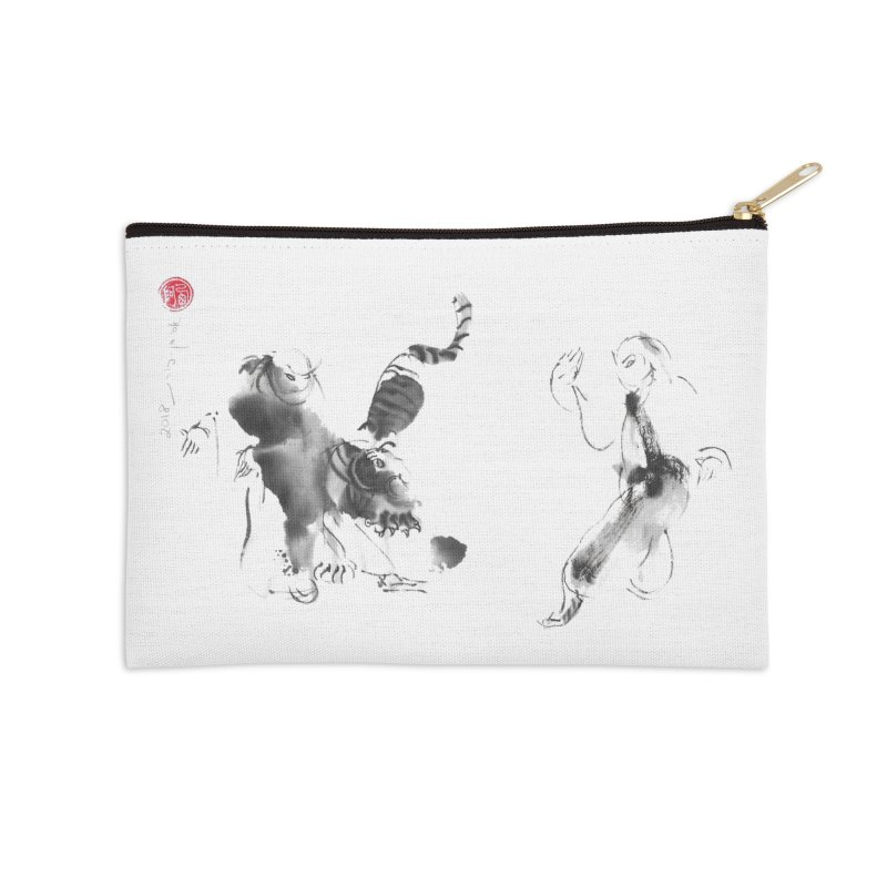 Step Back To Ride Tiger Accessories Zip Pouch by arttaichi's Artist Shop