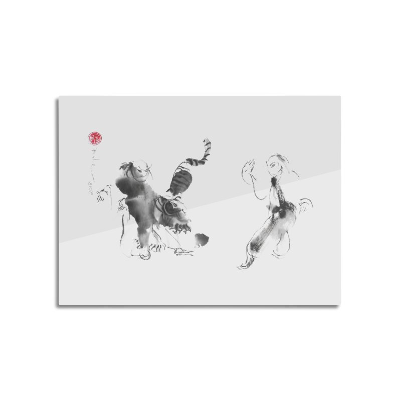 Step Back To Ride Tiger Home Mounted Aluminum Print by arttaichi's Artist Shop