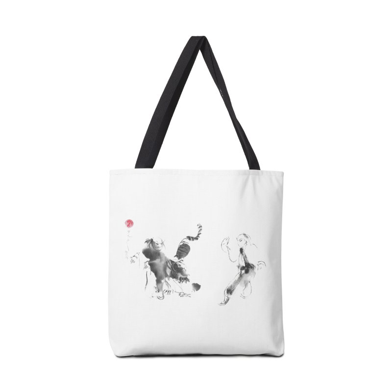 Step Back To Ride Tiger Accessories Tote Bag Bag by arttaichi's Artist Shop