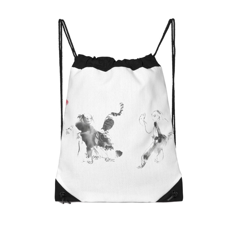 Step Back To Ride Tiger Accessories Drawstring Bag Bag by arttaichi's Artist Shop