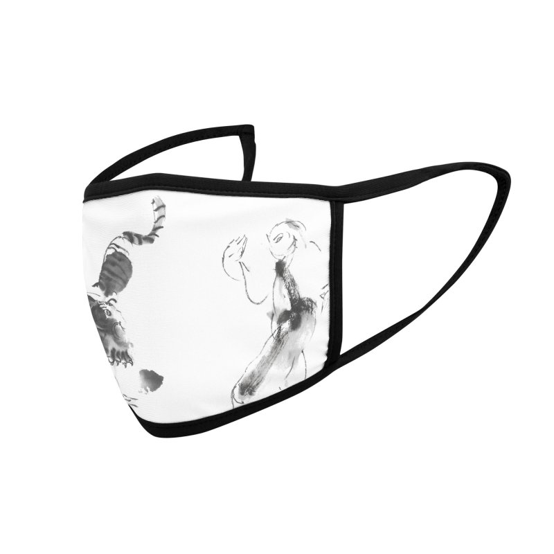 Step Back To Ride Tiger Accessories Face Mask by arttaichi's Artist Shop