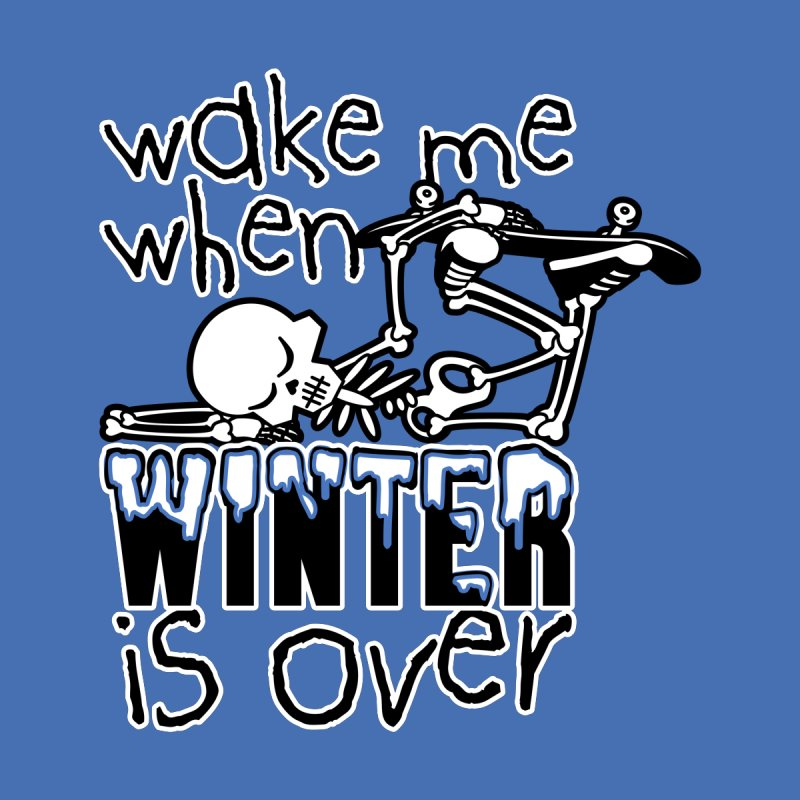 Wake Me Up When Winter is Over Sleeping Skateboard Skeleton Zombie Men's Tank by Art Time Productions by TET