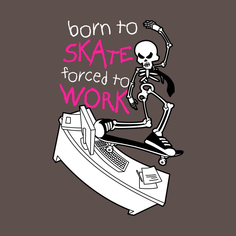 Born to Skate Forced to Work - Pink Skeleton Zombie Skateboarder Men's Longsleeve T-Shirt by Art Time Productions by TET