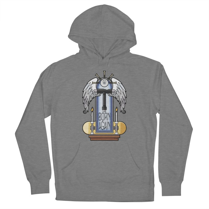 Born Again Skateboard Tool Angel Shrine Women's Pullover Hoody by Art Time Productions by TET