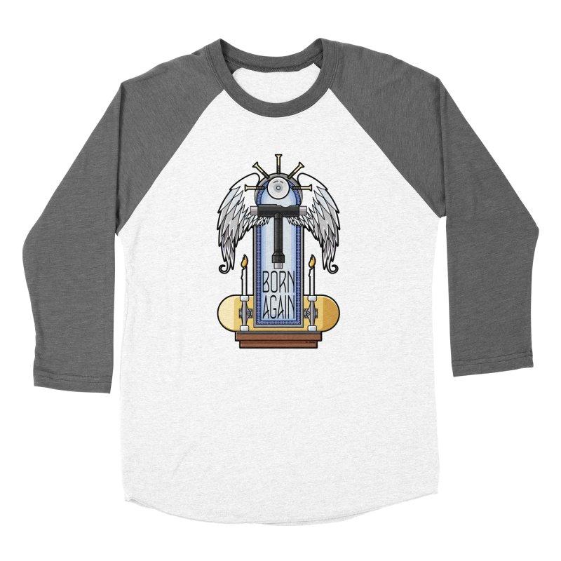 Born Again Skateboard Tool Angel Shrine Women's Longsleeve T-Shirt by Art Time Productions by TET