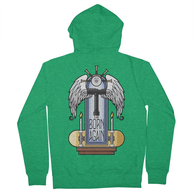 Born Again Skateboard Tool Angel Shrine Women's Zip-Up Hoody by Art Time Productions by TET