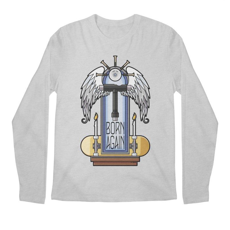 Born Again Skateboard Tool Angel Shrine Men's Longsleeve T-Shirt by Art Time Productions by TET
