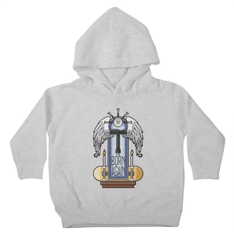 Born Again Skateboard Tool Angel Shrine Kids Toddler Pullover Hoody by Art Time Productions by TET