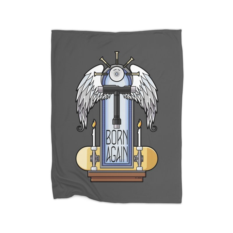 Born Again Skateboard Tool Angel Shrine Home Blanket by Art Time Productions by TET