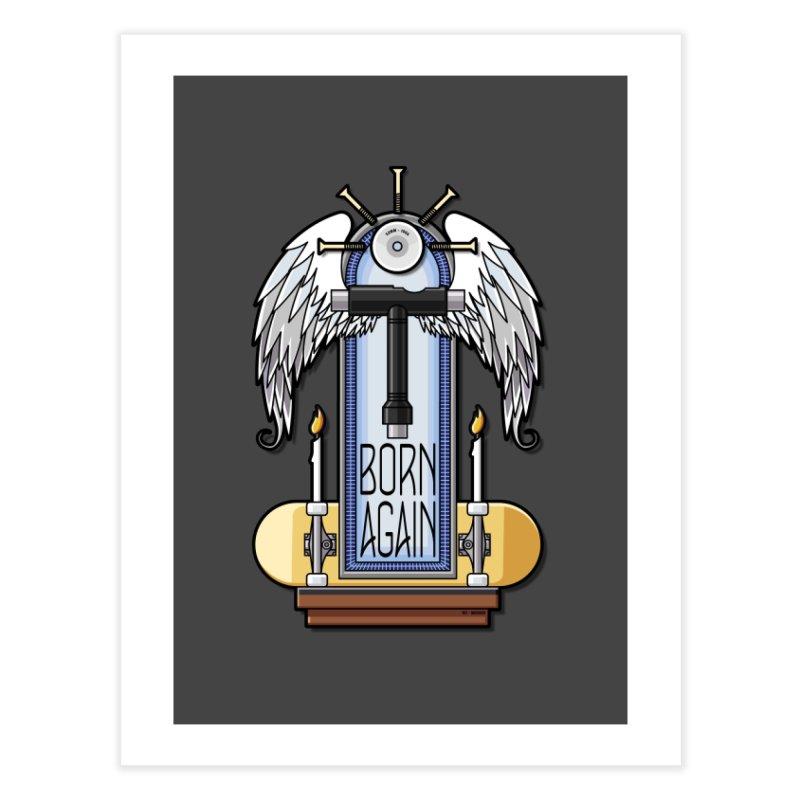 Born Again Skateboard Tool Angel Shrine Home Fine Art Print by Art Time Productions by TET