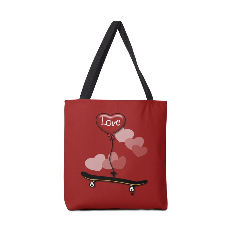 Love Skaters and Skateboarding Heart Balloon Skateboard Accessories Bag by Art Time Productions by TET