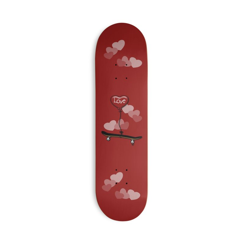 Love Skaters and Skateboarding Heart Balloon Skateboard Accessories Skateboard by Art Time Productions by TET