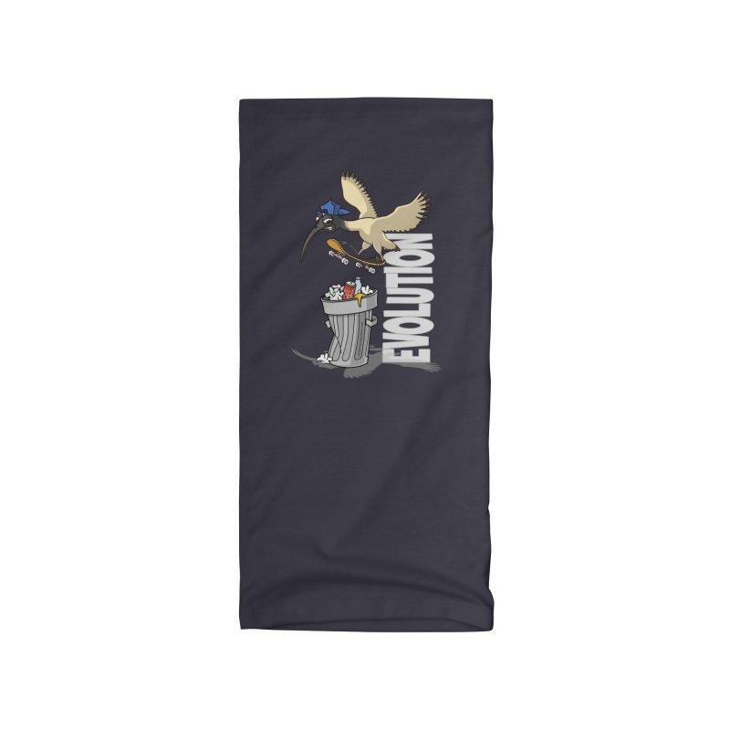 Bin Chicken Ibis Evolution Skateboarder Australian Bird Accessories Neck Gaiter by Art Time Productions by TET