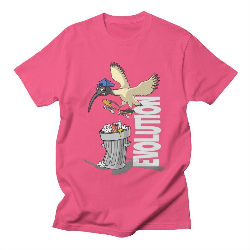 Bin Chicken Ibis Evolution Skateboarder Australian Bird Women's T-Shirt by Art Time Productions by TET