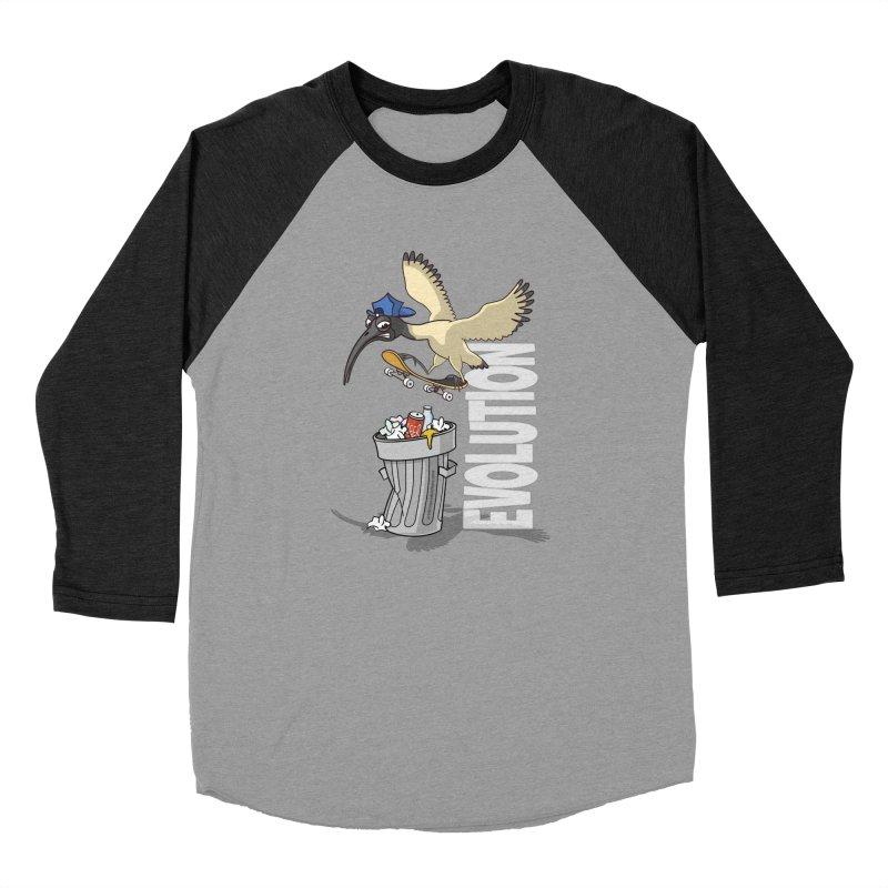 Bin Chicken Ibis Evolution Skateboarder Australian Bird Women's Longsleeve T-Shirt by Art Time Productions by TET