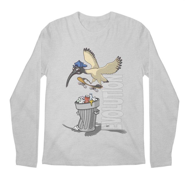Bin Chicken Ibis Evolution Skateboarder Australian Bird Men's Longsleeve T-Shirt by Art Time Productions by TET