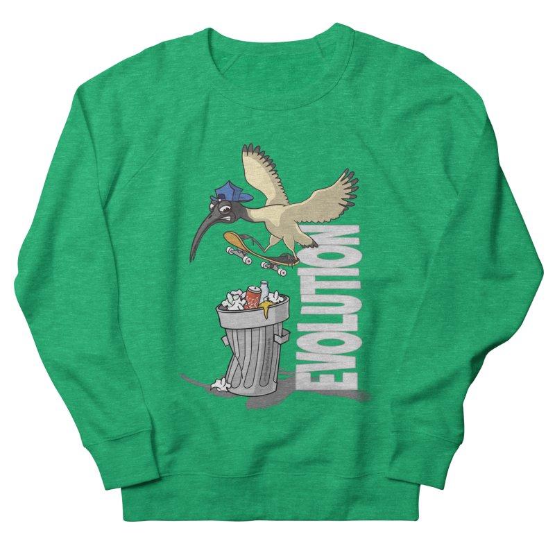 Bin Chicken Ibis Evolution Skateboarder Australian Bird Women's Sweatshirt by Art Time Productions by TET