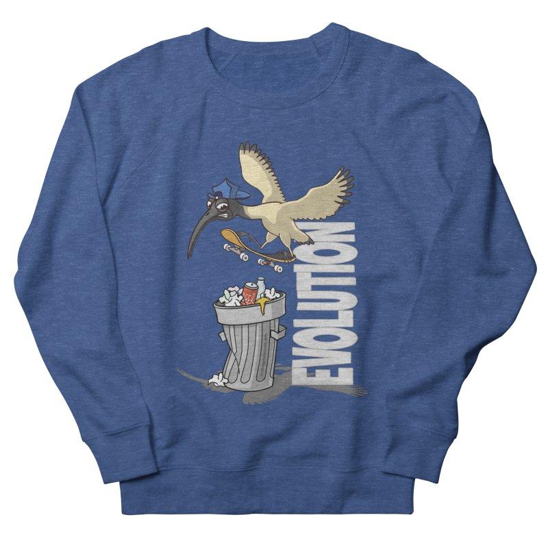 Bin Chicken Ibis Evolution Skateboarder Australian Bird Men's Sweatshirt by Art Time Productions by TET
