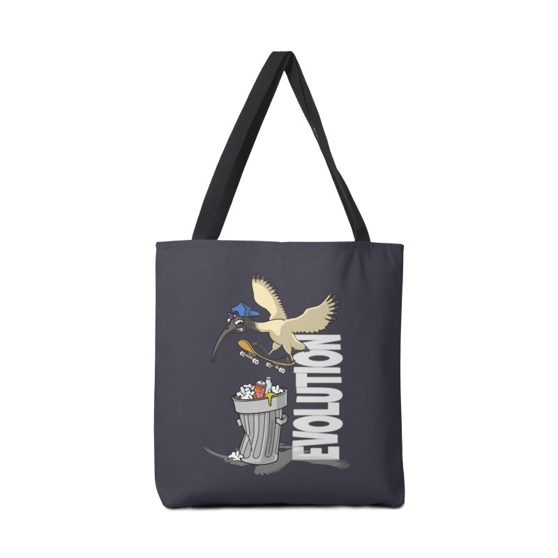 Bin Chicken Ibis Evolution Skateboarder Australian Bird Accessories Bag by Art Time Productions by TET