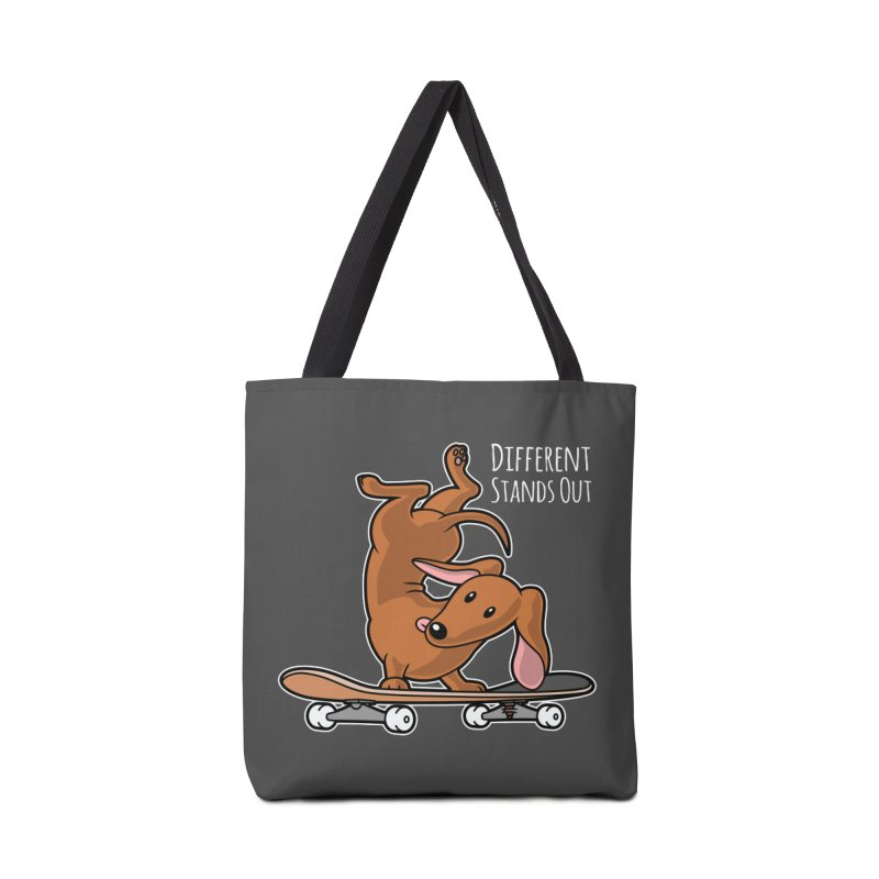 Different Stands Out - Red Dachshund Wiener Sausage Dog on Skateboard Accessories Bag by Art Time Productions by TET