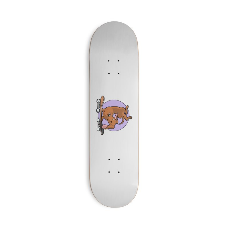 Red Dachshund Wiener Sausage Dog on Skateboard Accessories Skateboard by Art Time Productions by TET