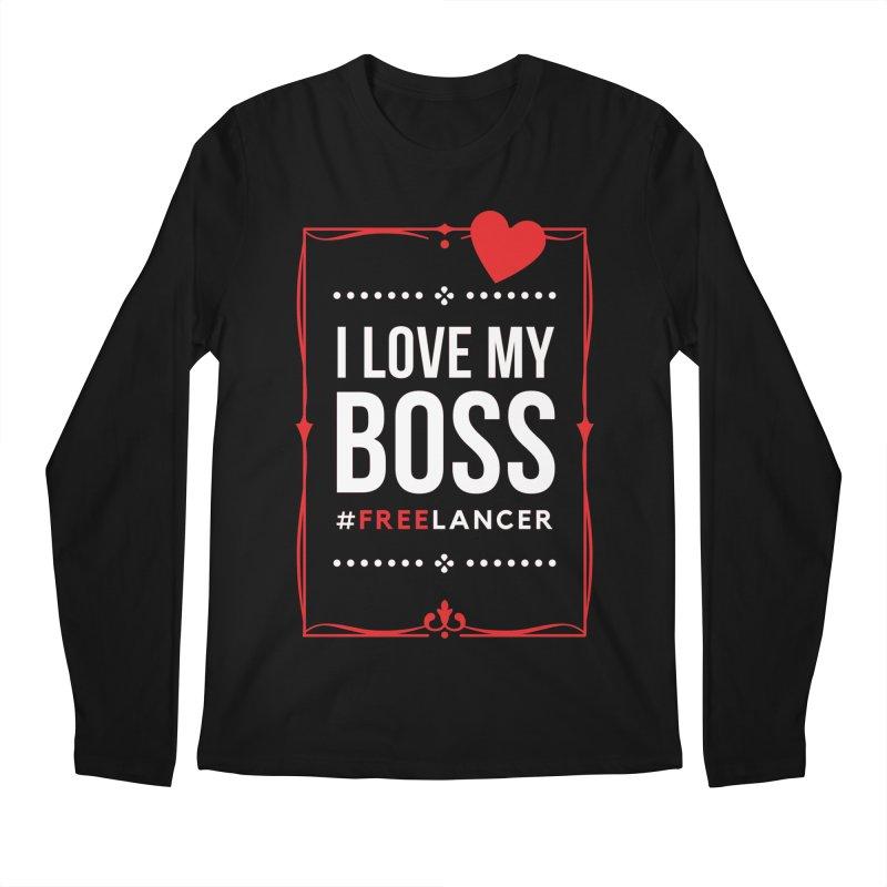 I Love My Boss Freelancer Men's Longsleeve T-Shirt by Art Time Productions by TET