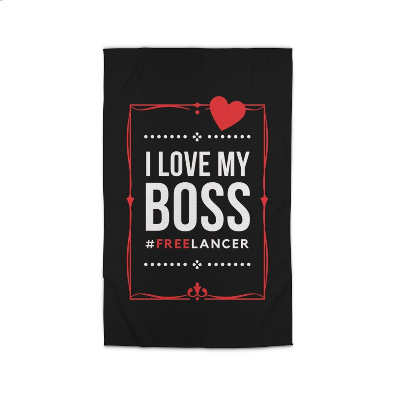 I Love My Boss Freelancer Home Rug by Art Time Productions by TET
